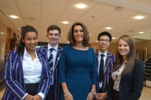 WEB Samantha Simmonds with head boys and girls