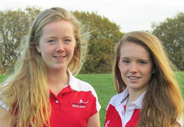 WEB U16 rounders Lucy Stead and Grace Hall