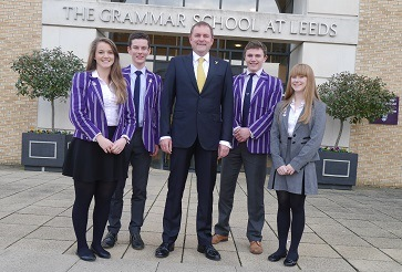WEB Gary Verity with head boys and girls