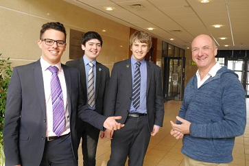 WEB Martin Morris with Sam Berson, Michael Shaw and Jake Stringer